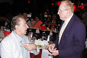 Buddy DeFranco and Les Paul at Jazz Journalists Association awards